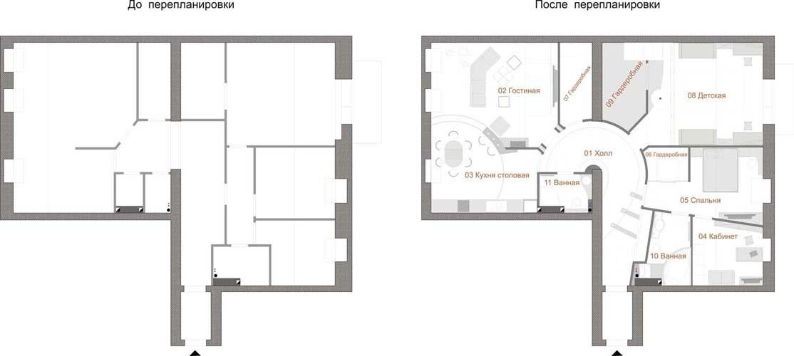 Перепланировка трехкомнатной квартиры - адреса, телефоны