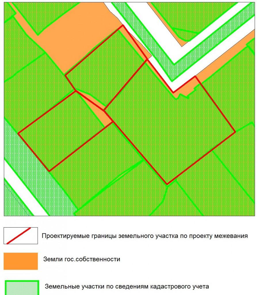 План и границы участков.